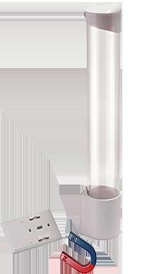 Держатель для стаканов (белый, магнит)